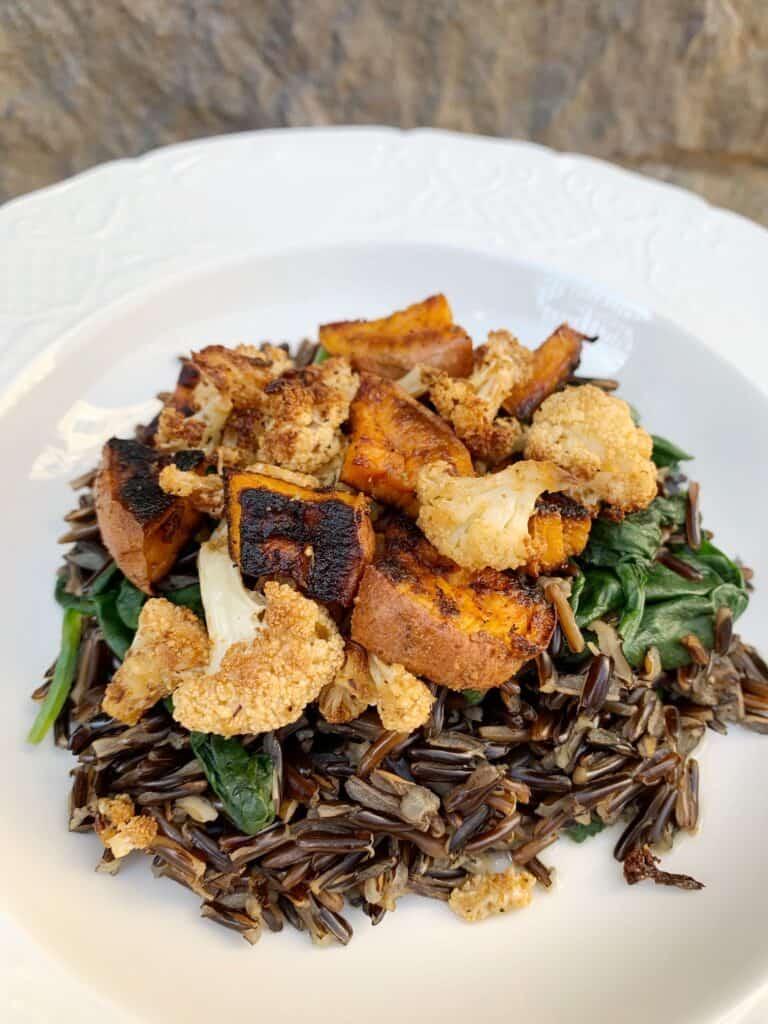 Roasted Vegetable Wild Rice Bowl